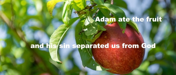 and his sin separated us from God